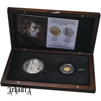 Fryderyk Chopin - silver and gold set