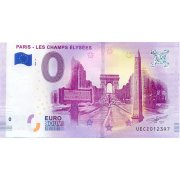 Collectors banknote 0 euro - The Champs-Elysees