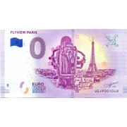 Collectors banknote 0 euro - Flyview of Paris