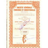Industrial Company - 2000 francs share