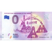 Collectors banknote 0 euro - The Paris Exhibition